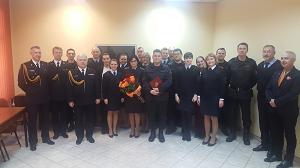 Miejskiej Państwowej Straży Pożarnej w Gliwicach pożegnanie emerytalne