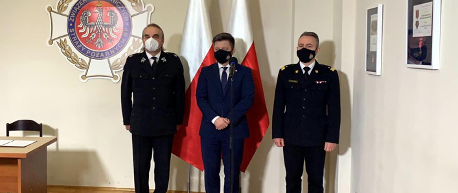 Spotkanie komendanta głównego PSP nadbryg. Andrzeja Bartkowiaka z przedstawicielami rządu i władzami ZG ZOSP RP